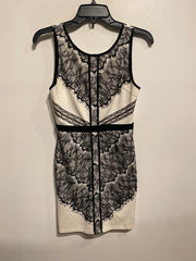 Lush White/Blk Lace Dress