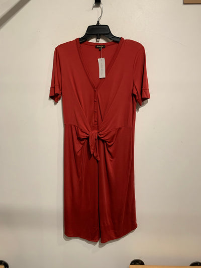 Massimo Red Front Tie Dress