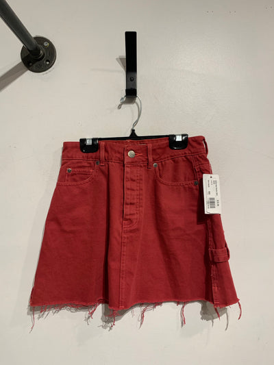 RVCA Red Denim Skirt