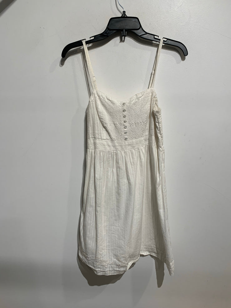 AE White Half Button Dress