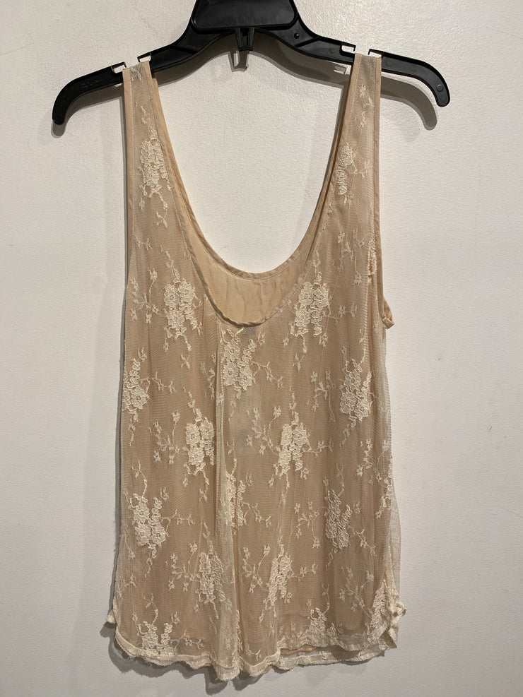 Wilfred Cream/Beige Lace Tank