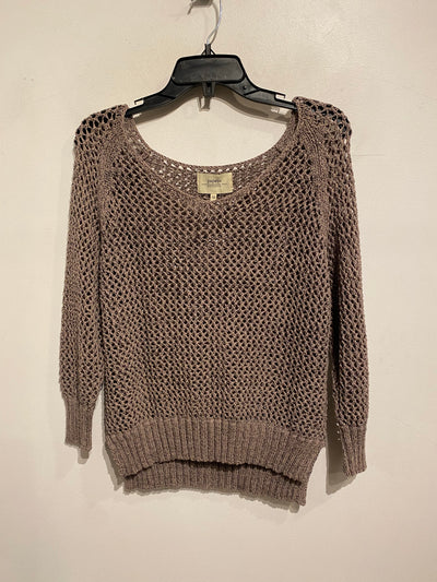 Papaya Brown Open Knit Sweater