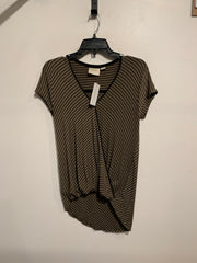 Maeve Olive/Blk Stripe WrapTee