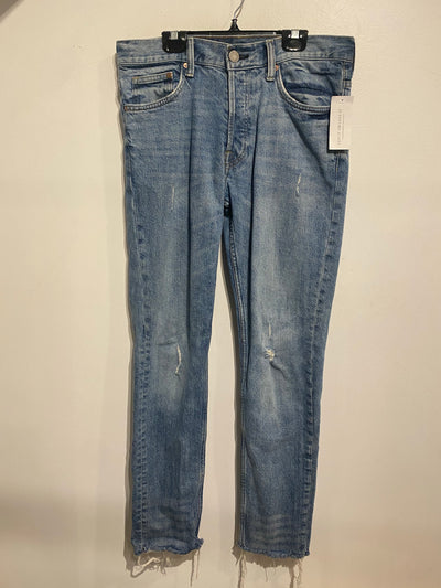 &Denim Slim Fray Hem Jean