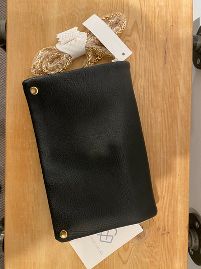 Street Level Black Clutch