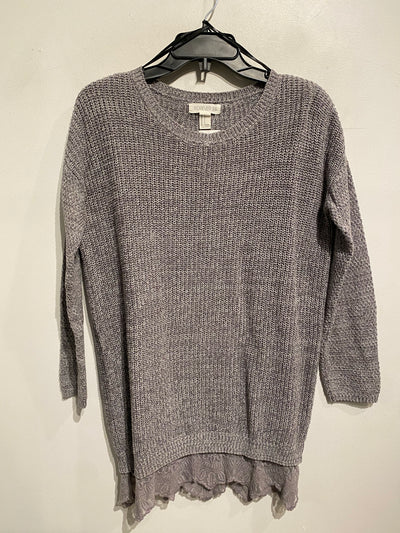 F21 Grey Ribbed Knit L.Slv