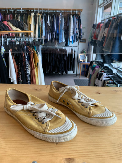 Frye Yellow Leather Sneakers