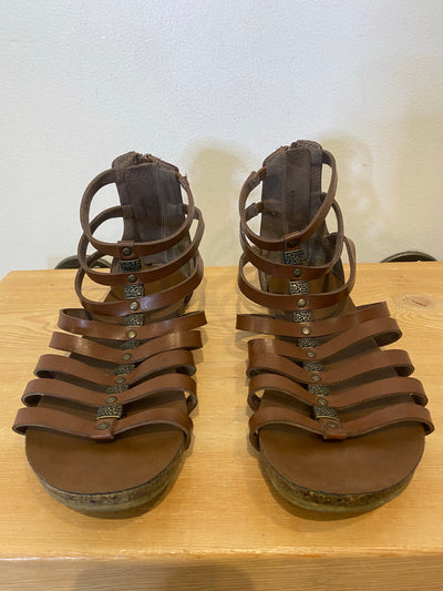DLG Brown Strappy Sandals