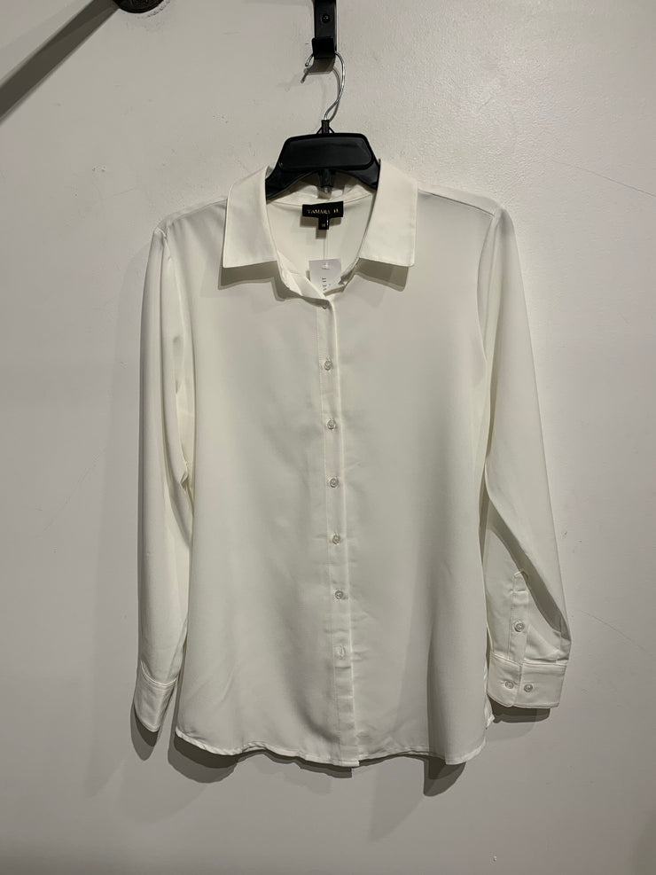 Tamara H White Button Up