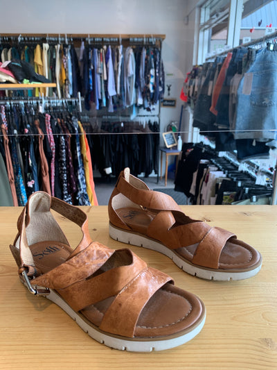 Sofft Brown Leather Sandal