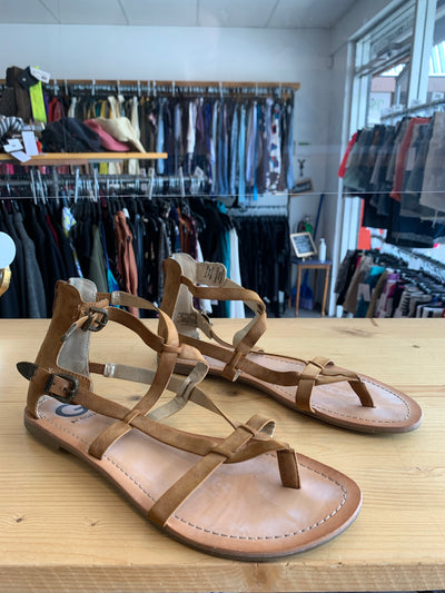 Guess Tan Strappy Sandals