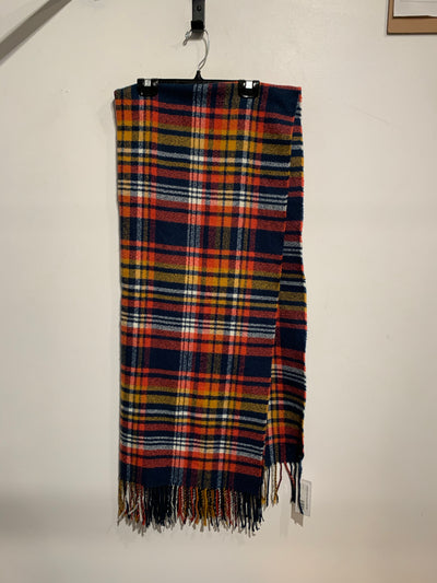 Navy/Red/Yellow Plaid Scarf