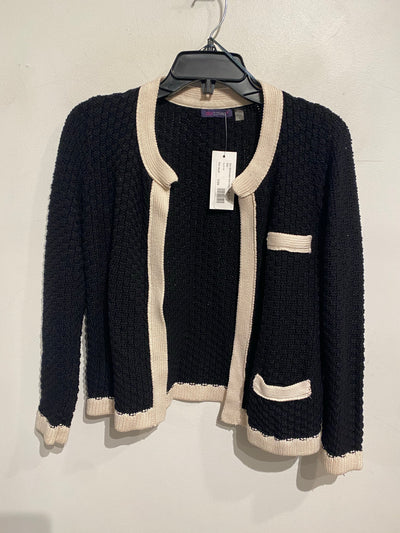 Dex Blk/Cream Knit Crop Cardi