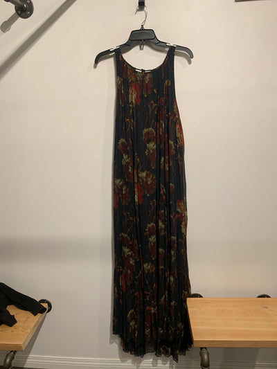 Free People Blk/Red Print Maxi