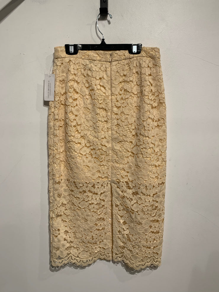 Topshop Beige Lace Skirt