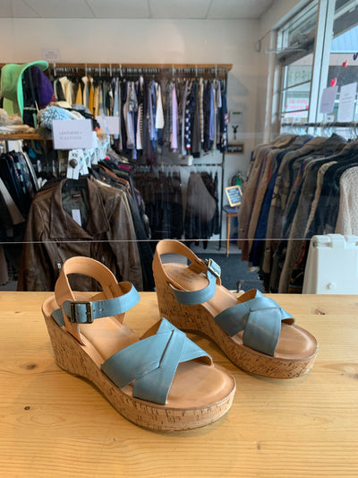 Kork Ease Blue Wedge