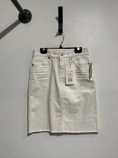 Part Two White Denim Skirt