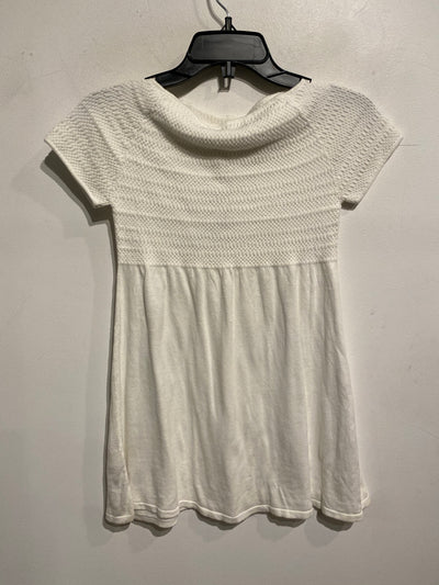 Zara White Knit Empire Tee