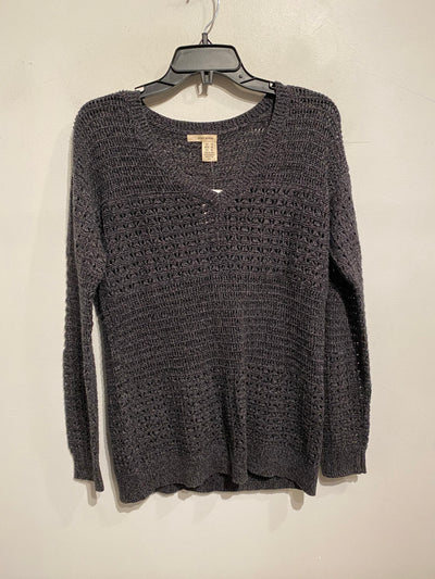DKNY Dark Grey Knit VNeck