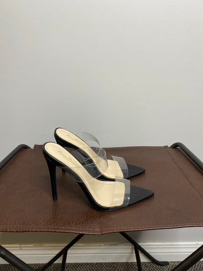 Anne Michelle Black/Clear Heel