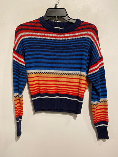 Urban Blue/Red Crop Sweater
