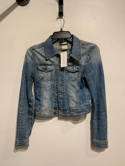 &Denim Cropped Denim Jacket