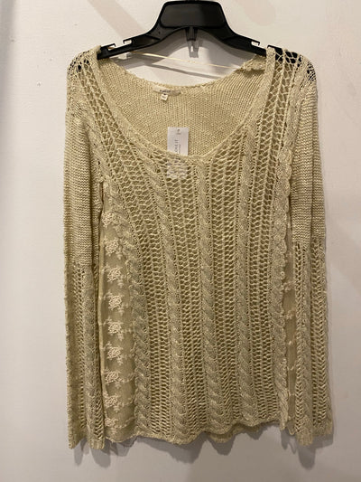 Mystree Beige WideKnit Sweater