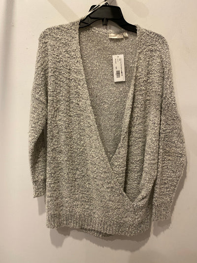 Cloth Fuzzy Grey DeepV Sweater