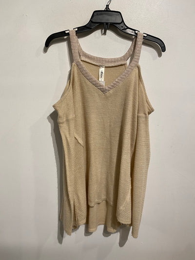 Mahina Beige Cold Shoul. Sweat