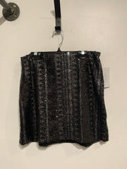 Express Black Sequin Skirt