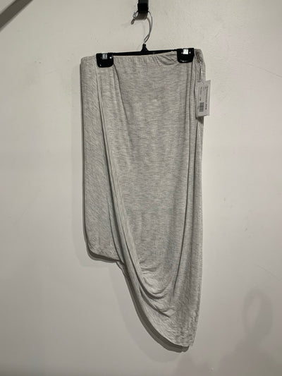 Dex Grey Asymmetric Skirt