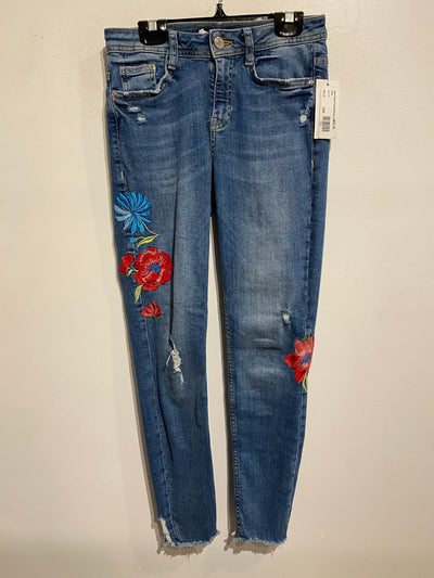Zara Flower Embroidered Jean
