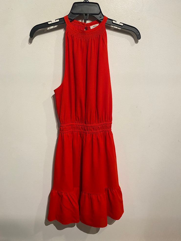 Wilfred Red High Neck Dress