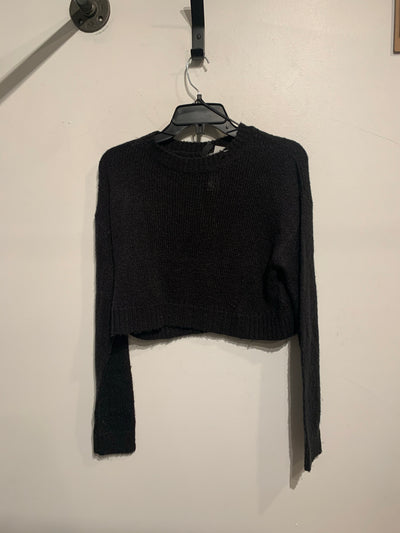 Divided Black Knit Crop Sweat.