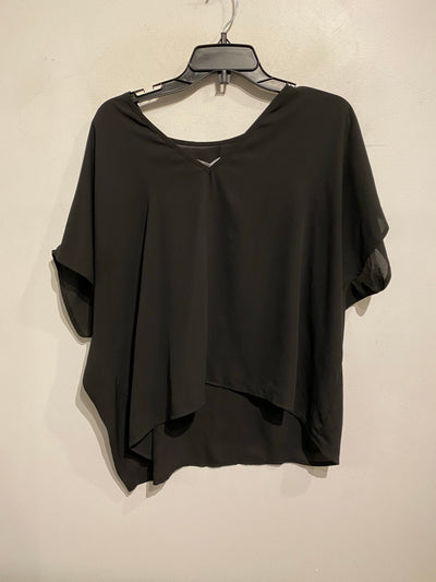 Oak + Fort Blk V Neck Tee