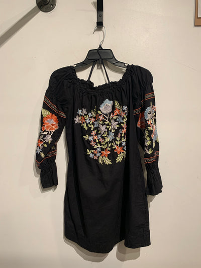 Free People Blk Embroidered
