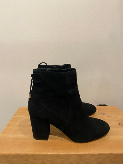 Aldo Blk Faux Suede Block Boot