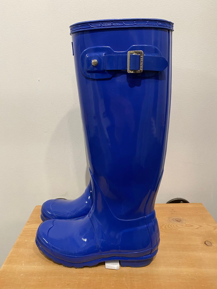 Hunter Blue Tall Boots