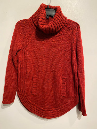 Cynthia Red Knit Turtleneck