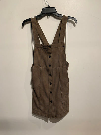 Topshop Brown Overall Drs