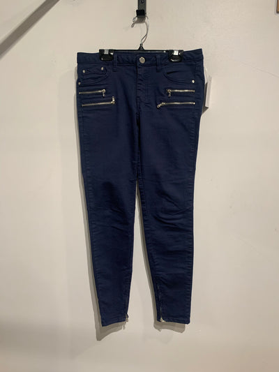 Zara Navy Zipper Jeans