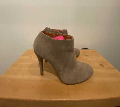 Aldo Grey Heeled Ankle Boot