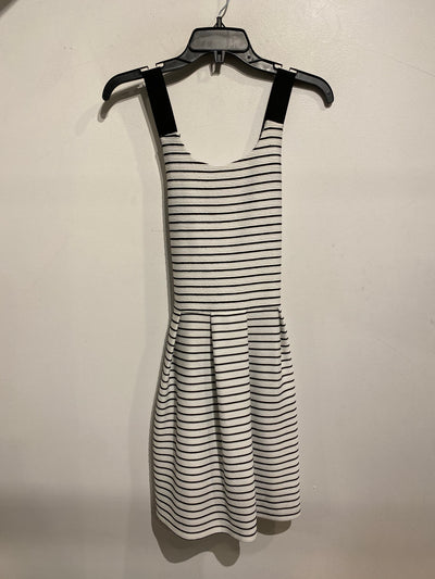 Dex White/Blk Stripe Dress