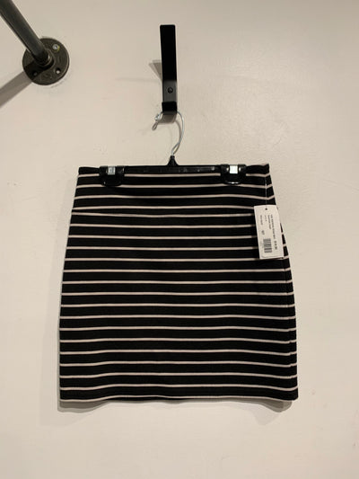 A&E Blk/White Stripe Skirt