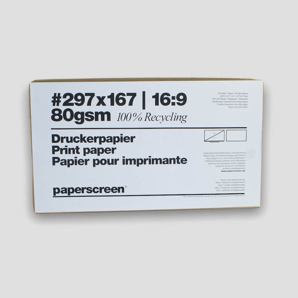 paperscreen Druckerpapier Recycling Widescreen 16:9 #297x167 Pitch Hand-out