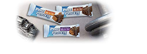 Pure Protein Bar Variety Pack (6 Chocolate Peanut Butter, 6 Chewy Chocolate Chip, 6 Chocolate Deluxe), (18 Count of 1.76 Oz bars) from Pure Protein