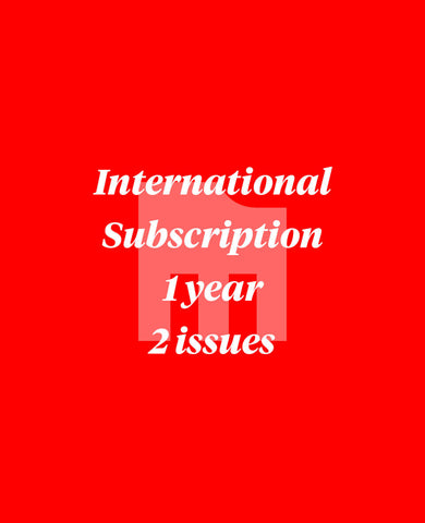 Manual 1 Year International Subscription