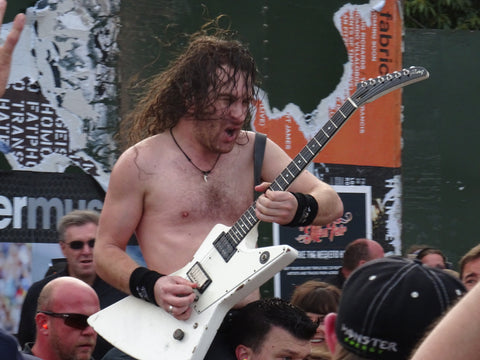 Airbourne in the crowd @Ramblin'Man Fair 2016 photo by Fretfunk