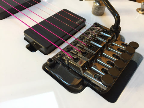 Pink Aurora Guitar strings available from Fretfunk
