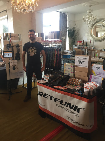 Andrew on the Fretfunk stand